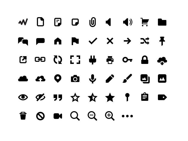 Genericons Neue svg icons icon-font genericons-neue