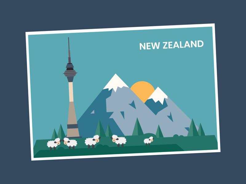 New Zealand Postcard - #31 Weekly Warmup