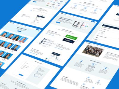 Web Design | Method:CRM customer relationship management saas sales chart leads business crm ui ux landing page website web ux design ui design web design