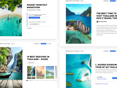 Landing Pages Design | BucketListers