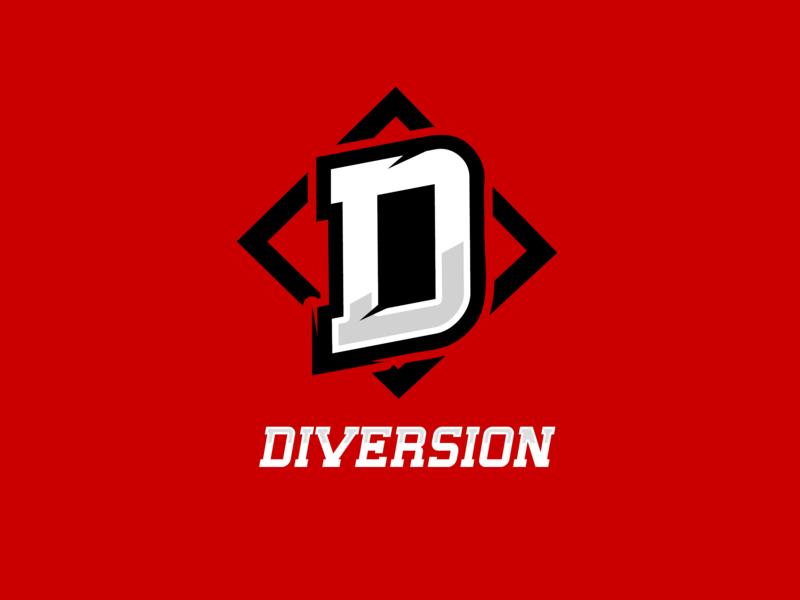 Esport logo Diversion vector team logo logotype d logo diversion mascot illustration logo gaming esports logo esport dota2 design csgo branding