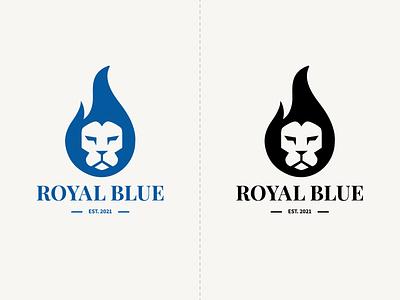 Royal Blue royale flame fire candles royal illustration typography illustrator clean graphic design creative branding minimal vector logo