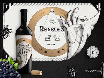 Reveles · Wine Branding Design