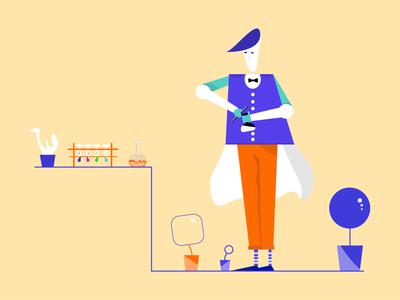 Chemist Illustration