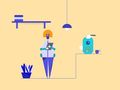 Robot Woman Illustration