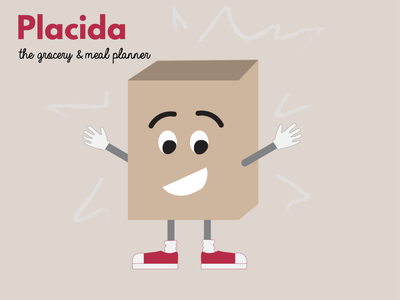 Dribbble Warmup - Placida meal planner meal prep groceries adobe illustrator illustration character design character adobe