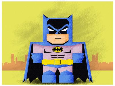 Tiny Original Batman batman flat superhero tiny illustration comic book