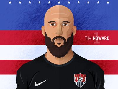 FIFA World Cup - Tim Howard goalkeeper soccer football fifa worldcup usa illustration flat tim howard world cup team usa