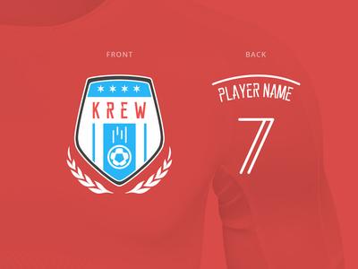 Krew Football Badge chicago badge logo soccer football