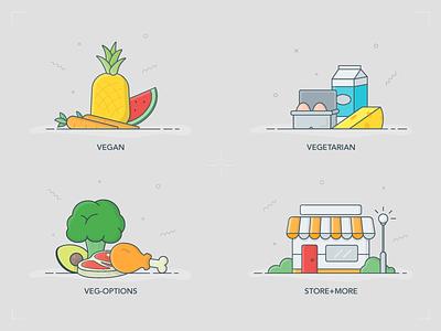 HappyCow | Vegan and Vegetarian Icons icons veggies. veggie icons happy cow store vegetarian vegan