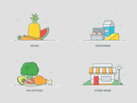 HappyCow | Vegan and Vegetarian Icons