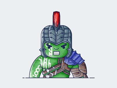 Hulk - Ragnarok comics avengers character superhero icon illustration vector ragnarok hulk