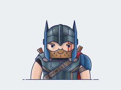 Thor - Ragnarok comics avengers character superhero icon illustration vector ragnarok thor