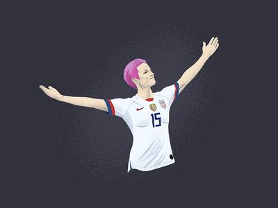 Megan Rapinoe fifa player usa world cup vector football soccer uswnt character illustration