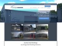 Omega Steel Buildings Web Design