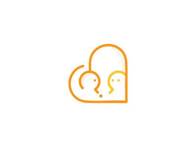 Drama therapy logo design branding illustration drama question logo mirroring mirror heart question mark visual identity therapy selflove love self