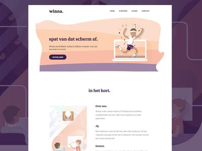 winna.nl webdesign webdesign illustration ux ui design web