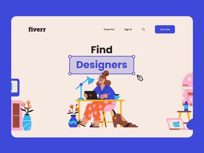 Fiverr - Hero Website Concept