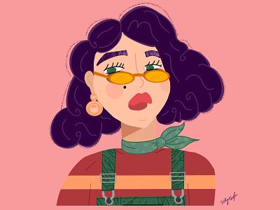 Sassafrass people illustration fashion character people face sassy procreate illustrator illustraion