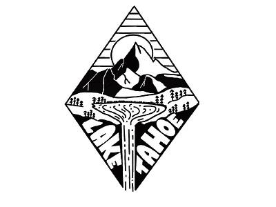 Tahoe Diamond illustrate snow powder apres heyhaygoods drawing mountains graphic design procreate design lake tahoe illustration