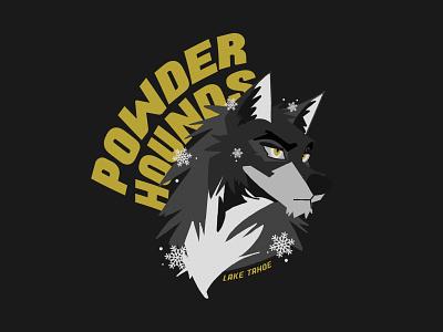 Powder Hounds tahoe ski apres heyhaygoods illustrator illustrate typography procreate lake tahoe mountains design graphic design illustration