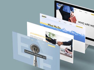 Elderrock Financial Website ui  ux ui design uidesign designs web website design web design website branding graphic design design