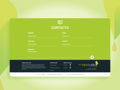 Tu Mejor Cuota_Contact ux responsive website web design