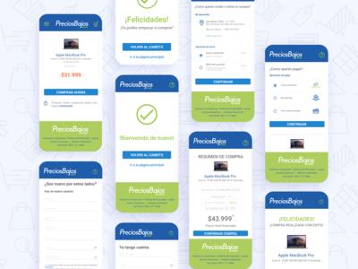 Mobile shop flow ecommerce shopping app flow webapp design responsive website ecommerce design ui ux