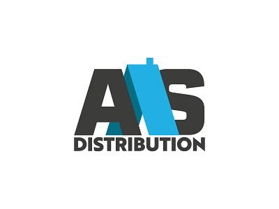 AAS Distribution construction logo branding logo