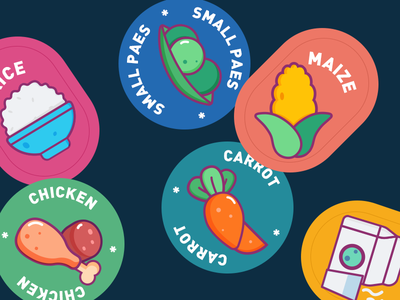 some food icons cute vector fashion icons food icons icon illustration