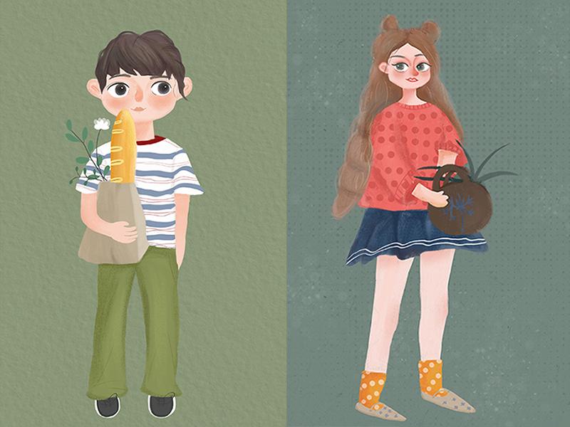 Boy And Girl illustration