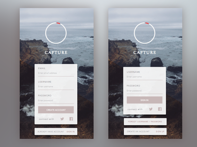 Daily001 - Sign Up 001 dailyui form app mobile ios