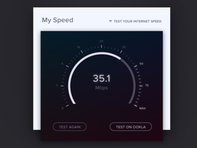 Speed Test UI & Visual Design ui visual design dial gauge clock counter stopwatch time speed