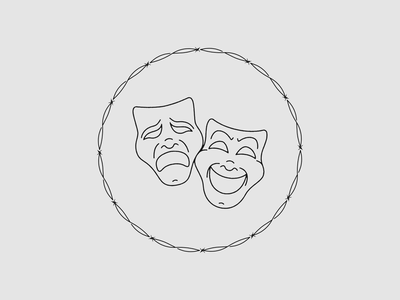 Gifted x Cursed cry laugh streetwear barbed wire logos logo design theatre mask cry later laugh now logo
