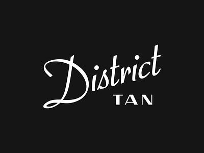 District Tan Brand Identity type typography logo design logo brand identity branding brand