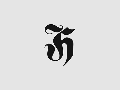 Traphaus hand lettered hand drawn hand done typogaphy brand identity logodesign logo branding font old english blackletter