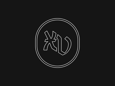 XV blackletter vintage hand drawn typography logos brand identity branding logo design logo