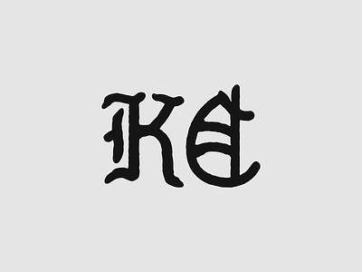 Blackletter KC branding logo logo design blackletter chiefs kansas city chiefs kcmo kansas city kc
