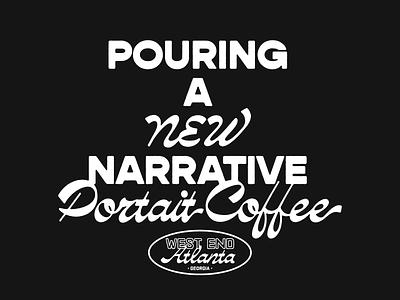 Portrait Coffee Tee Design branding vintage typography atl georgia coffee west end atlanta t-shirt design t-shirt