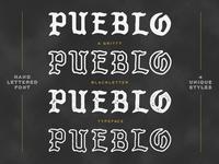 Pueblo Blackletter Typeface