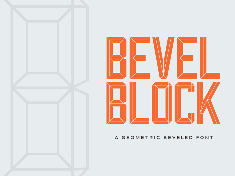 Bevel Block Font by Max Ayalla on Dribbble