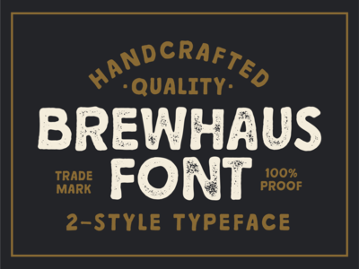 BREWHAUS — A Vintage Handcrafted Font