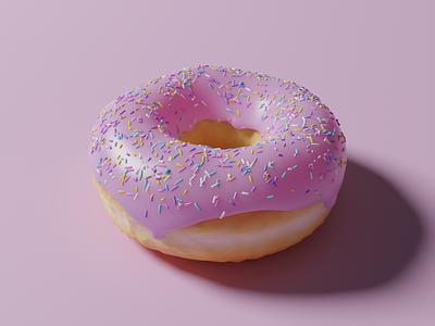 3D donut 🍩 doughnut donut render blender 3d