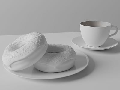 Final Scene 3d art render doughnut donut blender