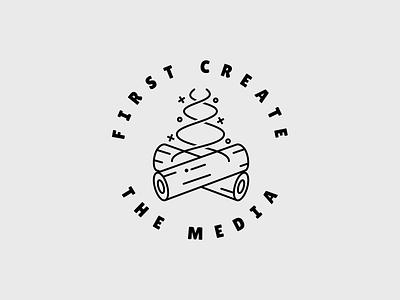 First Create The Media - Logo identity design branding logo design logo