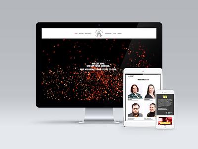 First Create The Media website tablet mobile layout landing homepage uxui ui ux website design website