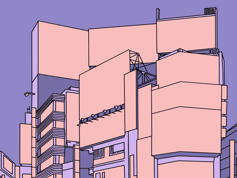 Shibuya WIP travel cityscape japan tokyo shibuya line art lineart design illustration
