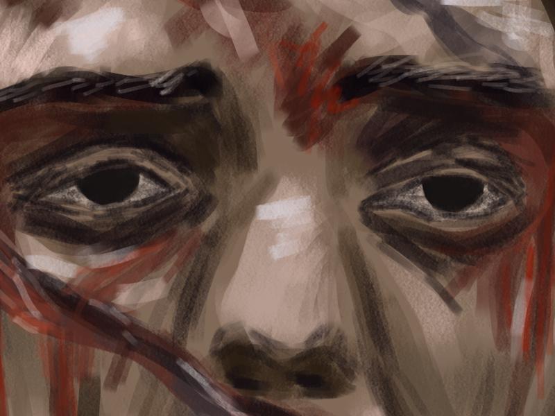 Arya WIP portrait drawing digital painting illustration art arya stark stark got game of thrones arya