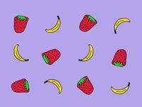 Strawberry banana 🍓 🍌