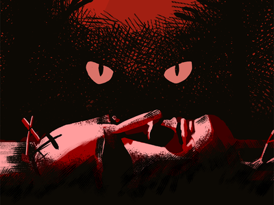 Pet Sematary Poster cat movie horror painting movie poster pet sematary stephen king petsematary